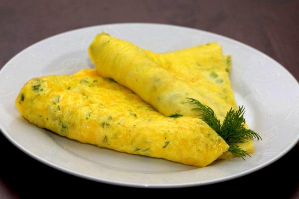Омлет – самое распространенное блюдо, подаваемое на завтрак