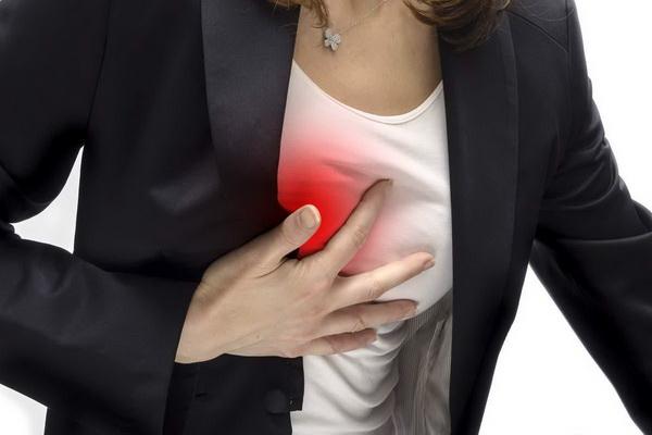 Боль за грудиной справа