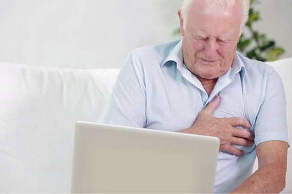 Приступ стенокардии у мужчин 60+