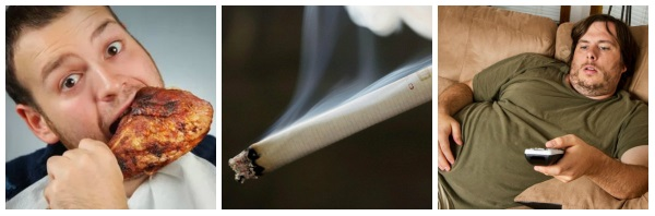 Неправильное питание, курение, гиподинамия