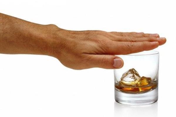 Отказ от спиртосодержащих напитков