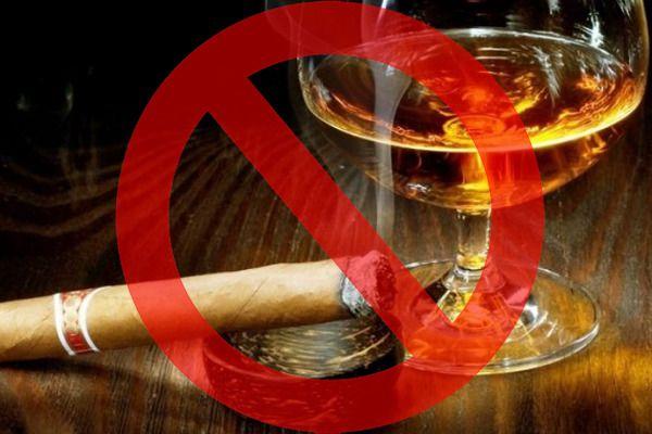 Картинка запрет на курение и алкоголь